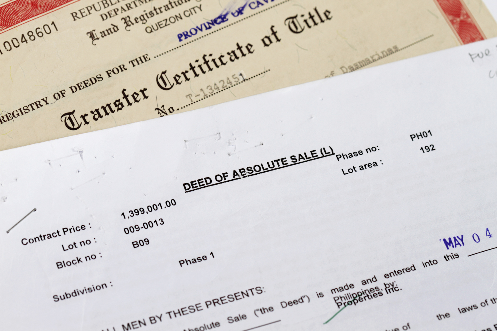 Some forms for a deed on the desk of our probate lawyers