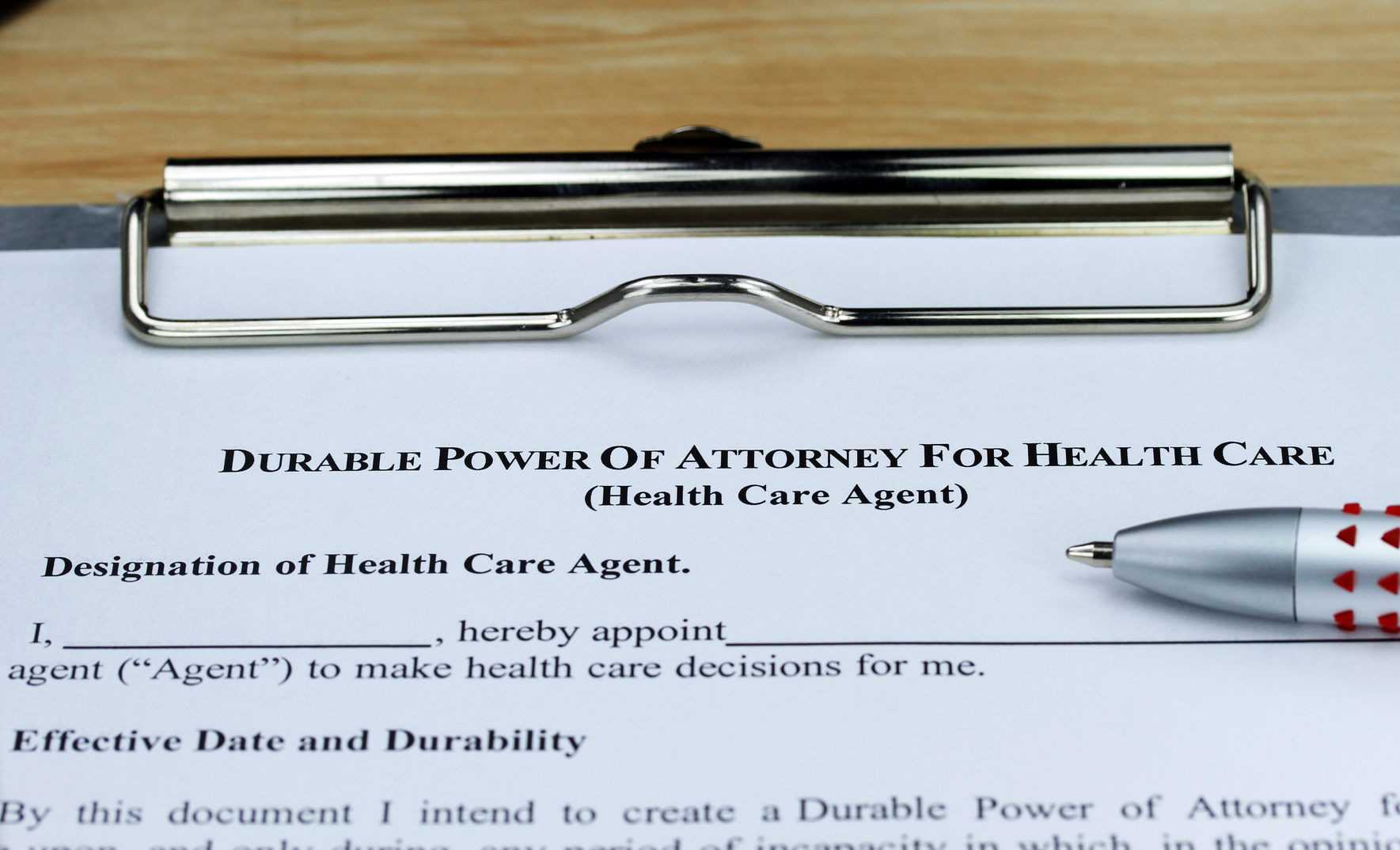Durable Power Of Attorney Health Care paperwork for an estate planning attorney Avon Lake